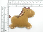 Horse Pony Iron On Patch Applique - Puffy 3D