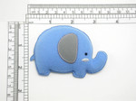 Elephant Iron On Patch Applique - Puffy 3D