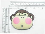 Monkey Iron On Patch Applique - Puffy 3D