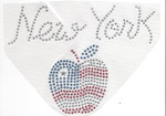 Rhinestud Applique - New York Apple