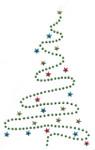 Rhinestud Applique - Christmas Tree