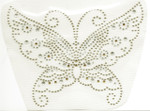 Rhinestud Applique - Gold Butterfly