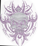 Rhinestud Applique -  Tribal Skull Purple