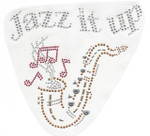 Rhinestud Applique -  Musical Jazz It Up