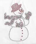 rhinestud applique - snowman