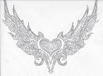 Rhinestud Applique - Heart in Wings