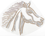 Rhinestud Applique - Horse Head