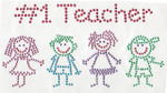 Rhinestud Applique - #1 Teacher