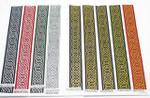 "Jacquard Ribbon 1"" 25mm Hexcelsior Metallic Hexagonal Celtic Chain Priced Per Yard"