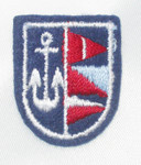 Iron On Patch Applique - Crest Nautical Anchor & Flags