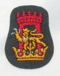 Iron On Patch Applique - Crest with Castle & Lion