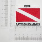 Iron On Patch Applique - Dive CAYMAN ISLANDS