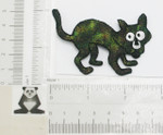 Sparkly Halloween Cat - Iron On Patch Applique