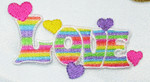 Iron On Patch Applique - LOVE word