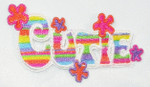 Iron On Patch Applique - CUTIE word