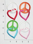 Iron On Patch Applique - Peace and Love *Colors*