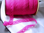 "Insertion Lace 1 1/8"" Hot Pink 25 Yards"