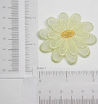 Iron On Patch Applique - Light Yellow Sheer Layered Flower