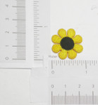 "Iron On Patch Applique - Daisy 1"" (25mm)  Yellow Black Eyed"