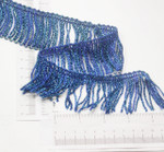 "Chainette Fringe 2"" Metallic Blue Priced Per Yard"