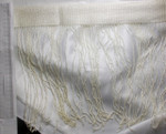 """Curly Chainette Fringe 11"""" Drop on 2 1/2"""" wide Header - Ivory"""