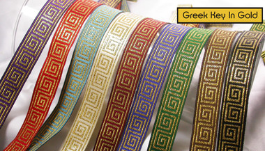 greek key jacquard ribbon tjr979