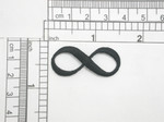 """Infinity Symbol Iron On Patch Applique   Fully Embroidered in Black Rayon Thread  Measures 1 1/2"""" across x 5/8"""" high approximately"""