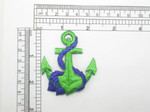 "Anchor Green & Royal Patch Embroidered Iron On Applique 2 1/8"" wide  x 2 1/2"""