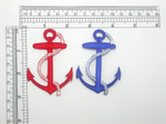 "Anchor with Rope Patch 2 7/8"" tall Iron On Embroidered Applique"