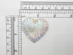 "Heart 1 1/2"" Patch Silver Holographic Iron On Embroidered  Applique"