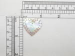 "Heart 1"" Patch Silver Holographic Iron On Embroidered  Applique"