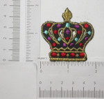 Iron On Patch Applique -Black Crown