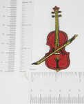 Violin Iron On Embroidered Patch Applique