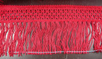"""Chainette Fringe 4 7/8"""" Drop Red Per Yard"""