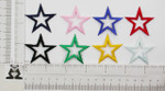 """Iron On Patch Applique - Open Star 1 5/8"""" (41.27mm) *Colors*"""