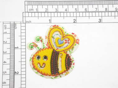 """Bee Layered Iron on Applique 2"""" x 2 1/8"""""""