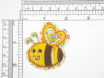 "Bee Layered Iron on Applique 2"" x 2 1/8"""