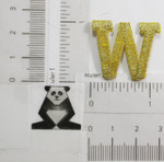 "Iron On Patch Applique - 1"" Metallic Gold Letter W"
