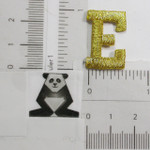 "Iron On Patch Applique - 1"" Metallic Gold Letter E"