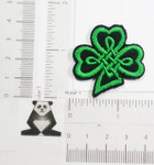 Iron On Patch Applique - Bold Celtic Shamrock 1 1/2""