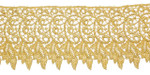"Venise Lace 4"" Metallic Gold Per Yard."