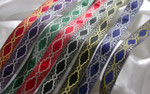 "Jacquard Ribbon 1 1/4"" Ziggy Star Metallic *Colors*"