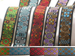 "Jacquard Ribbon 1 1/2"" Adinkra *Colors*"