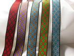 Ghana African Adinkra Woven Jacquard Ribbon tjr1011