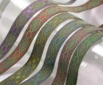 "Jacquard Ribbon 5/8"" (15.88mm) Olde World Metallics *Colors* per yard"