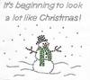 Snowman with scarf in Snow Scene - Rhinestone Applique - Iron On