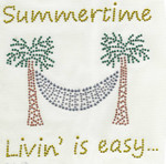 "Rhinestud Applique - ""Summertime Livin' is easy"""