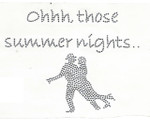"Rhinestud Applique - ""Oh Those Summer Nights"""