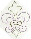 Rhinestud Applique - Fleur de Lys Multi Mardi Gras