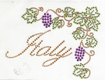 Rhinestud Applique - Italy Grape vines